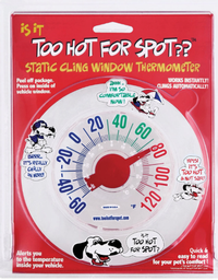 Static Cling Window Thermometer for Car or Other