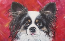 Janice Serilla Art & Design - $250 gift certificate for a custom pet portrait acrylic on canvas, 12