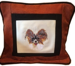 Embroidered Papillon Pillow Cover  14