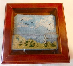 Framed Cross Stitched Birds  4