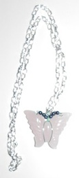 Pink Quarts Butterfly Pendant