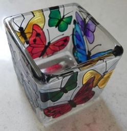 Beautiful Stained Glass Butterflies Cube