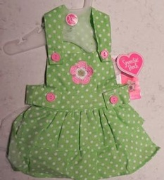Green with White Polk Dots Sundress