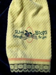 Jump Through Hoops for You Towel