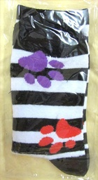 Ladies PawPrint Socks  - M