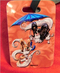 Hard Papillon Luggage Tag by Mike McCartney