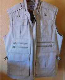 Men's Many Zipper Vest - XXL