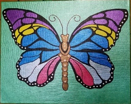 Large Colorful Butterfly Painting