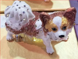 Georgeous Red & White porcelain Papillon