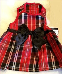 Great PLAID Holiday Girlie Dress  - S
