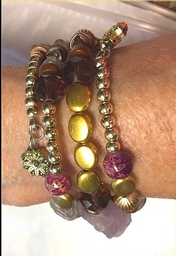 Purple Stones Alloy Bracelet