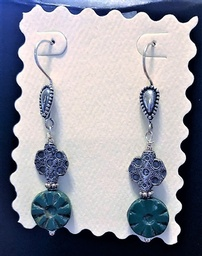 Sterling Silver Earrings with Artisan Glass and Bali Sterling