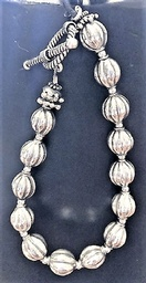 Sterling Silver bracelet of Bali Sterling Melon Beads
