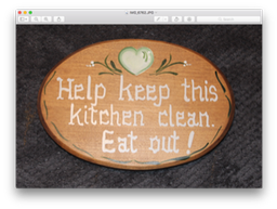 Help Keep This Kitchen Clean  Eat Out!