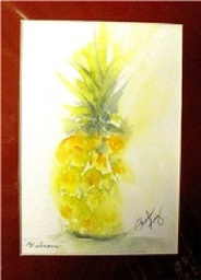 Water Color Painting - Pineapple