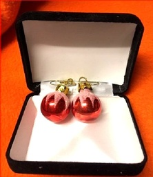 Holiday Red Earrings