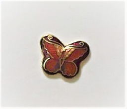 Small Cloisonne look butterfly pin