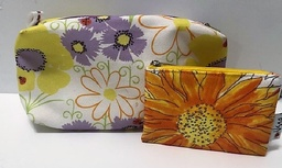 Makeup bag and sm, pouch