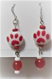 Paw print dangle earings