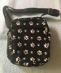 Cute paw print cross body bag with compartments