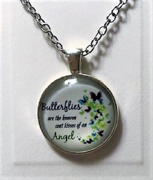 Very pretty round Butterfly Pendant on chain